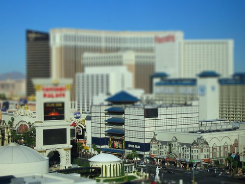 Vegas strip, Tiltshifted