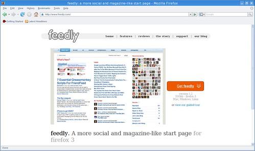página de inicio socialita para Firefox3