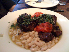 braised oxtail with white beans and salsa verde @ Bar Jules