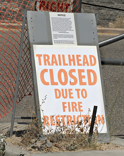 Trailhead closed - Fire Restrictions by SearchNetMedia