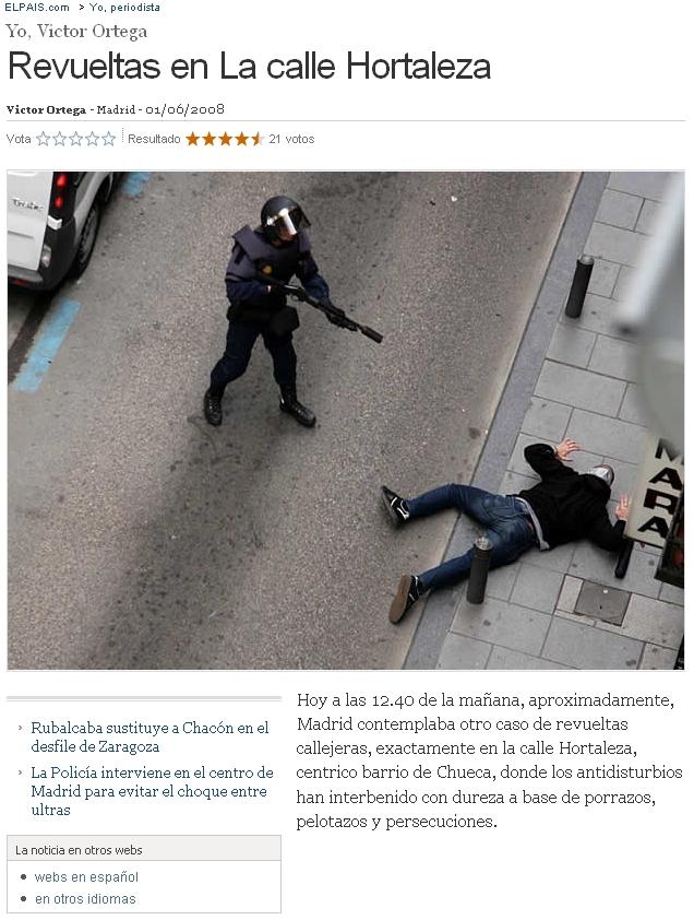 Revueltas en La calle Hortaleza