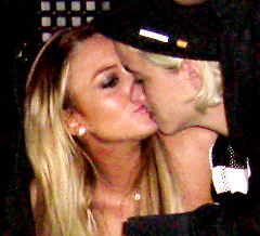 LIndsay Lohan here kissing DJ Samantha Ronson