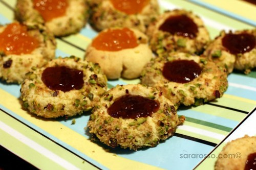 Bronte Pistachio Jam Thumbprint Cookies Cookies for Holiday Cookie Swap