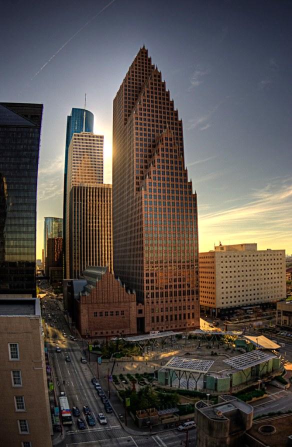 Downtown Houston Sunset