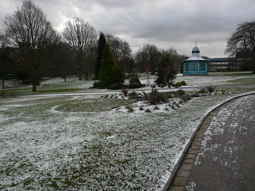 Weston Park with a sprinkle of snow