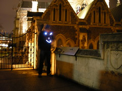 Smiley face at Southwark Cathedral