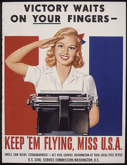My mom was a stenographer in the War Dept. during WWII