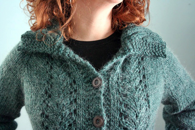 Vine Lace Cardigan detail