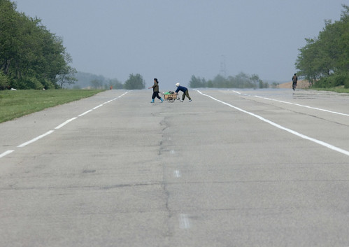 Crossing a highway - North korea