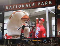 John Cena gives Teddy Roosevelt a presidents race pep talk