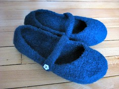 Felted Mary Janes