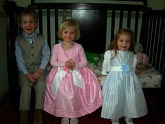 Three dressed up!
