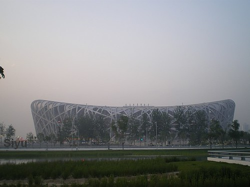"China 2008 Olympic Stadion ""Bird's Nest"""