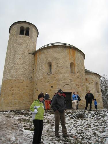 Rotunda on top of Řip