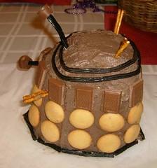 Dalek cake side view