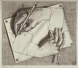 M. C. Escher. Manos dibujando. 1948.