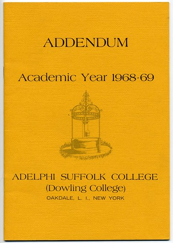 Addendum to the academic bulletin for 1968-1969.