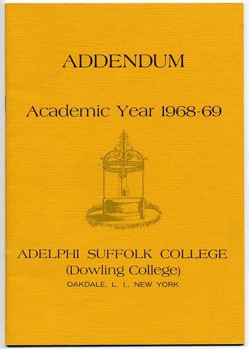 Addendum to the academic bulletin for 1968-1969.