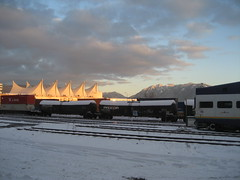 Sunrise at the railyard