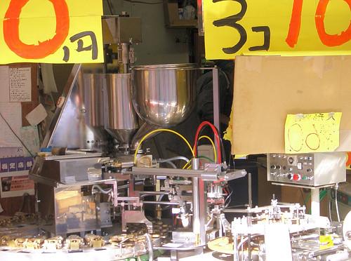 Máquina de fabricar galletas.