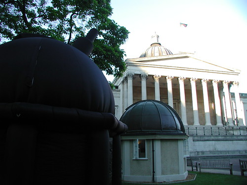 Fake dome, observing dome and architectural dome at UCL