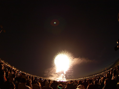 Fisheye Fireworks