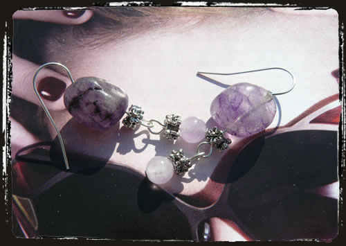 Orecchini viola - Purple earrings MEHGQVI