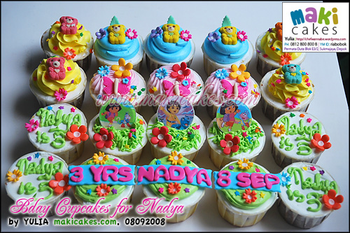 Bday Cupcakes for Nadya - Maki Cakes