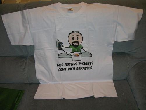 Mes autres t-shirts sont bien repassés