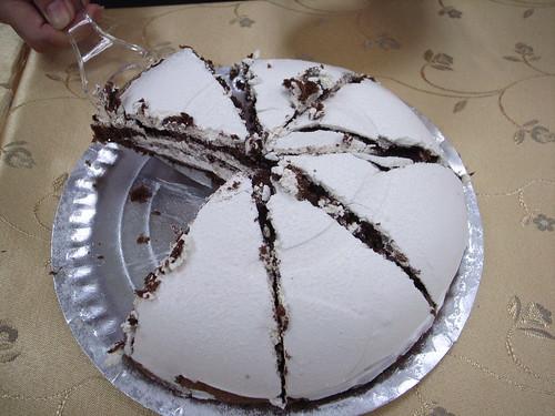 巧克力口味的蛋糕