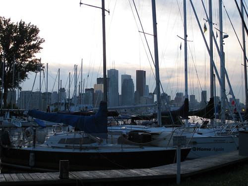 Wards Island Marina and Toronto Downtown