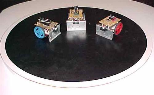 Robotics workshop mini-sumos built from scratch