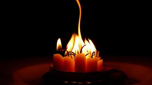 Xmas Tree Candle Leftovers II