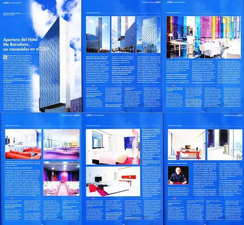 Reportaje en revista Canal Contract · Entrevista a Dominique Perrault, arquitecto del Hotel ME de Barcelona