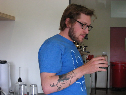 Mr Nature himself, Jared one of our Baristas by you.