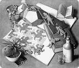 M. C. Escher. Reptiles. 1943.