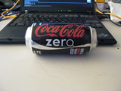 Expanded coke zero can!
