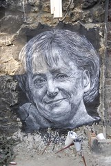 Angela Merkel painted portrait _DDC8548