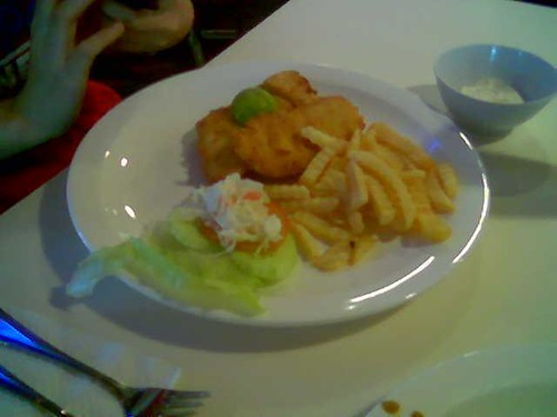 Garden Hotel cafe - fish and chips