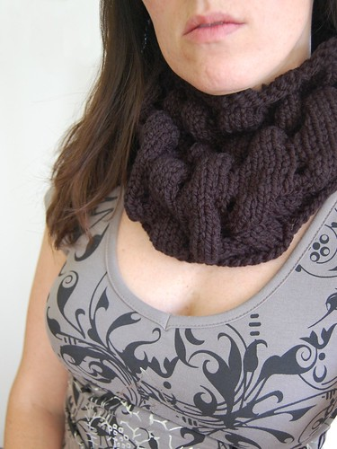 black loopy cowl