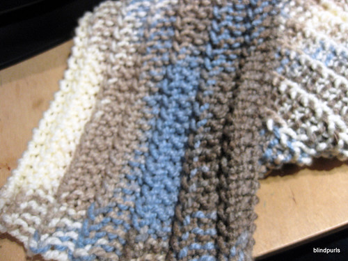 One Row Scarf WIP