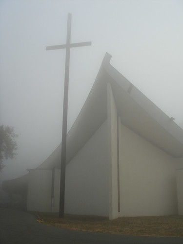 Church_covered in fog