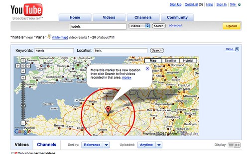 Location Search on YouTube