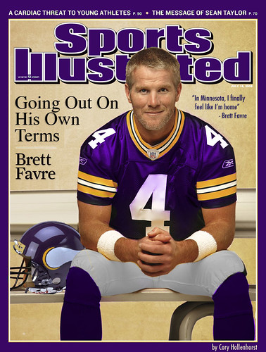 Brett Favre In Minnesota Vikings Uniform On Sports Illustrated by DavidErickson.