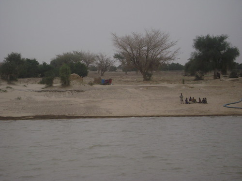 View as we float up the Niger River