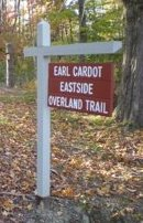 I borrowed this picture from Sue's blog post about a hike on the same trail system.  I forgot to take a picture of the sign!