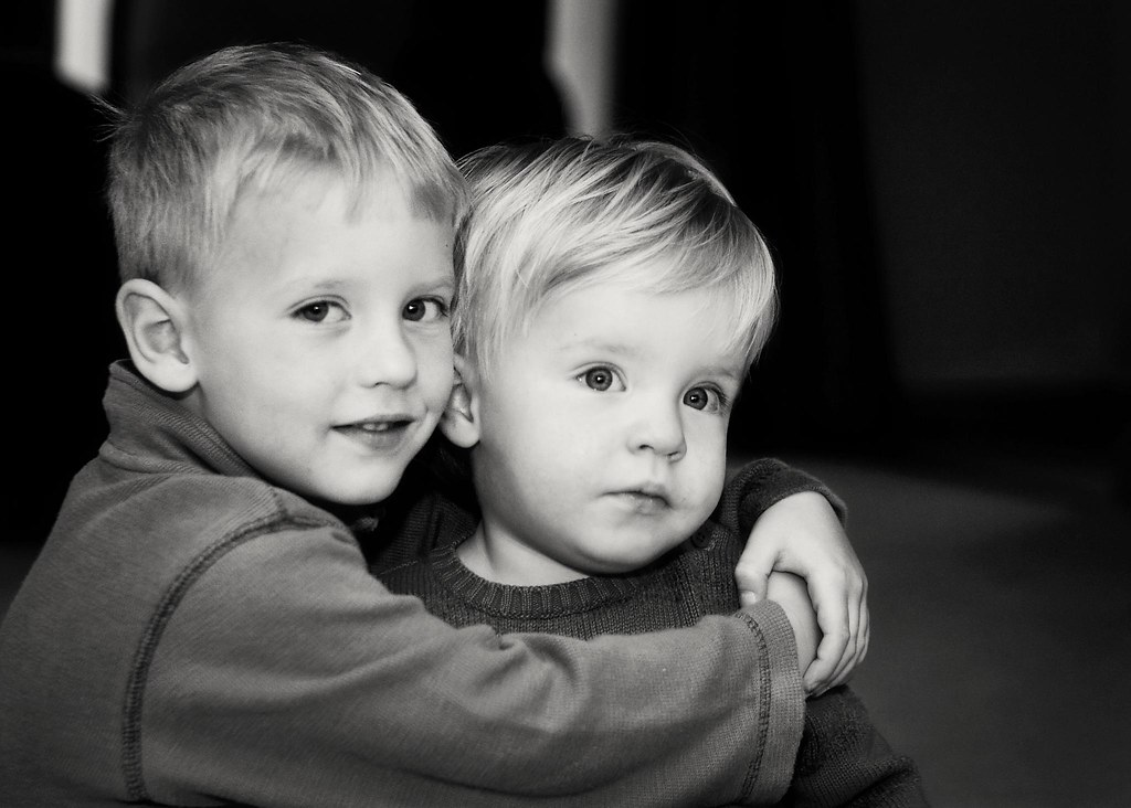 A great capture of two great friends and brothers.  I knew that this would convert well into a black and white.  Hey, maybe Im learning something.