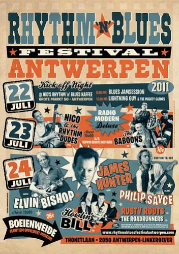 Rhythm 'n' Blues Festival Antwerpen - 22, 23, 24 juli 2011