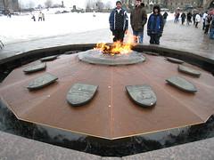 Centennial flame on the parliament hill