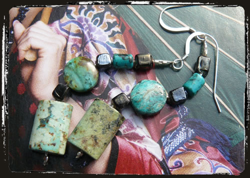 Orecchini turchese- Turquoise earrings AMHDPTN_CZ